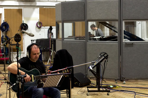 John Wallace recording at Abbey Road